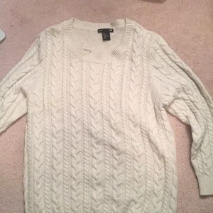 White/ Cream H&M Cable Knit Sweater